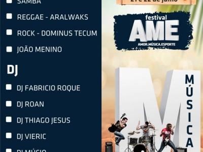 AME Festival - Amor Música e Esporte